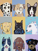 Artwork by Brian Nash, Nine Dogs, available from Zatista.com