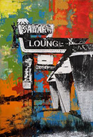 Artwork by Deanna Fainelli, Sahara Lounge, available from Zatista.com