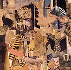 Artwork by Romare Bearden in Collage: Made in America at Michael Rosenfeld Gallery in New York, January 28 - Apr 11, 2017