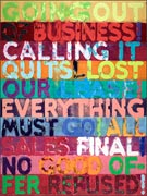 Artwork by Mel Bochner on exhibition at the Jewish Museum in New York, May 2 - September 21, 2014