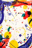 Artwork by Sam Francis, on exhibition at Leslie Sacks Fine Contemporary in Santa Monica, CA