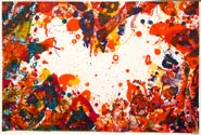 Artwork by Sam Francis, The East is Red, 1970, on exhibition at Leslie Sacks Fine Contemporary in Santa Monica, CA