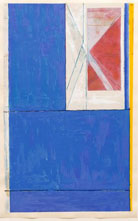 Print by Richard Diebenkorn, Blue, 1984, edition of 200, signed and numbered available from Leslie Sacks Fine Art in Los Angeles