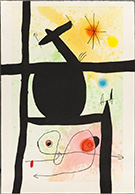 Artwork by Joan Miro on exhibition at Galerie d'Orsay in Boston, September 28 - Nov 20, 2017