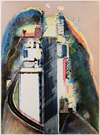 Artwork by Wayne Thiebaud available from Leslie Sacks Gallery in Bergamot Station, Santa Monica, CA