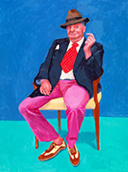 Artwork by David Hockney at the Los Angeles County Museum of Art in Los Angeles, CA, April 15 - July 29, 2018