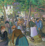 Artwork by Camille Pissarro on exhibition at Museum of Fine Arts in Boston, June 30 - January 6, 2019, 092418
