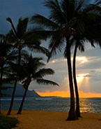Photograph by Michael Verlangieri, Kauai Sunset, available from Zatista.com, 092718