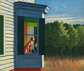 Artwork by Edward Hopper on exhibition in Modern American Realism at the Portland Art Museum, Oct 20 - April 28, 2019