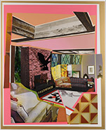 Artwork by Mickalene Thomas on exhibition at Leslie Sacks Gallery in Santa Monica, CA, Nov 10 - December 31, 2018, 102518