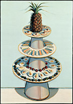 Artwork by Wayne Thiebaud on exhibition at SFMOMA in San Francisco, Sept 29 - March 10, 2019