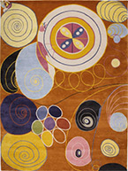 Artwork by Hilma af Klint on exhibition at Guggenheim Museum in New York, Oct 12 - April 23, 2019, 013019