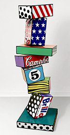 Artwork by Todd Gray Pop Sculpture on exhibiton at Skidmore Contemporary Art, Santa Monica, Jan 5 - February 2, 2019, 010819